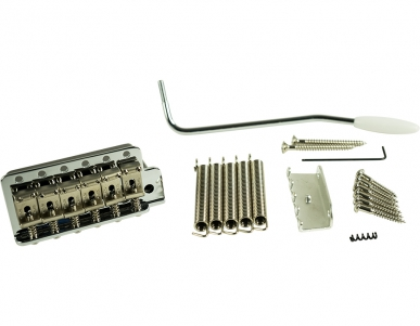 KLUSON® VINTAGE TREMOLO BRIDGE - STEEL BLOCK - NICKEL