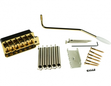 KLUSON® VINTAGE TREMOLO BRIDGE - STEEL BLOCK - GOLD
