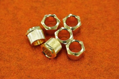 HEX HEAD TUNERS BUSHING Gold - (SET 6) (1/4 ID)