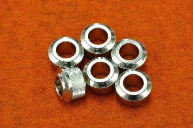 TUNER BUSHINGS FOR NEW FENDER (SET 6) (1/4 ID) Nickel