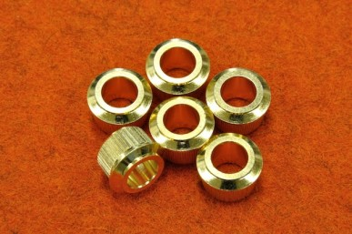 TUNER BUSHINGS FOR NEW FENDER (SET 6) (1/4 ID) Gold